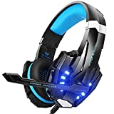 BENGOO G9000 Stereo Headset for PS4, PC, Xbox One Controller, Noise Cancelling Over Ear Headphones with Mic, LED Light, Bass Surround, Soft Memory Earmuffs for Laptop Mac Nintendo Switch Games