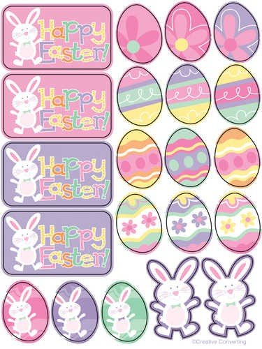 Happy Easter Party Stickers 4pack - 1