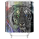 AQWI4R Tiger Edits Unique Personality Shower Curtains 36x72inch 90x180cm
