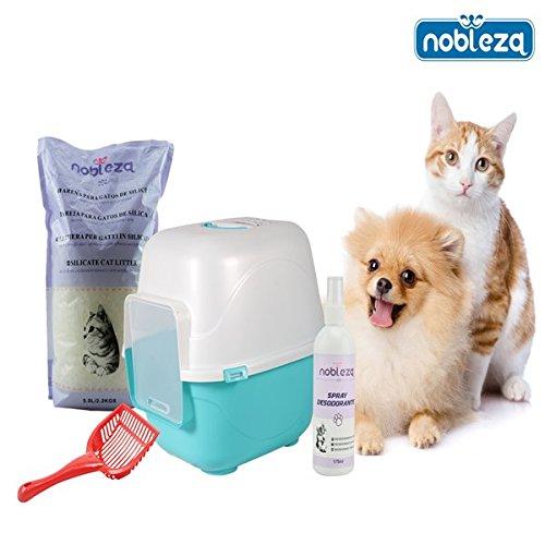 nobleza-pack-de-bandeja-higienica-y-accesorios-para-gatos-kitten-ii-contiene-bandeja-higienica-cubie