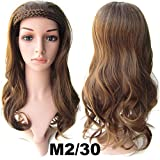 "2015 Hot Sale New Curly Hair Wigs Double Braided Topknot Semi Nested Wig Tablets / High Temperature Fiber Clip in Hair Half Piece 22"" (M2/30)"
