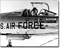 Pilot Chuck Yeager in F-104 Cockpit 11x14 Silver Halide Photo Print