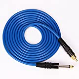 Tattoo Cords New Silicone Material 2.4 Meter 8' Feet High Quality Silica Gel Tattoo Machine RCA Plug Clip Cord for Tatoo Kit Beauty Body Care Blue (Color: Blue)