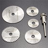 6pcs HSS Saw Blades Circular Saw Blades Mandrel Cutter Rotary Tool For Dremel -