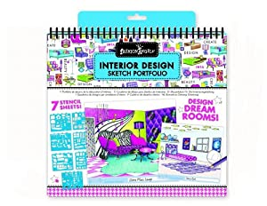 Fashion Angels Interior Design Sketch Portfolio Toys Games