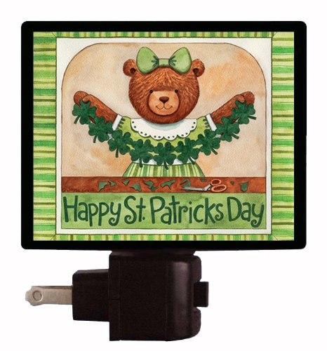 St Patricks Day Night Light - Happy St. Patricks Day - Bear