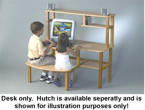 Antique Hutch Childs Wooden Computer Desk For 1 2 Kids