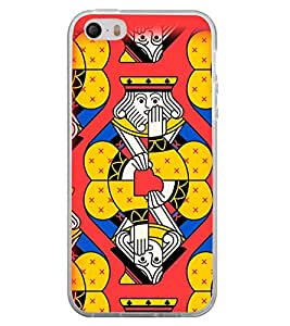 Fuson Premium King Metal Printed with Hard Plastic Back Case Cover for Apple iPhone 5
