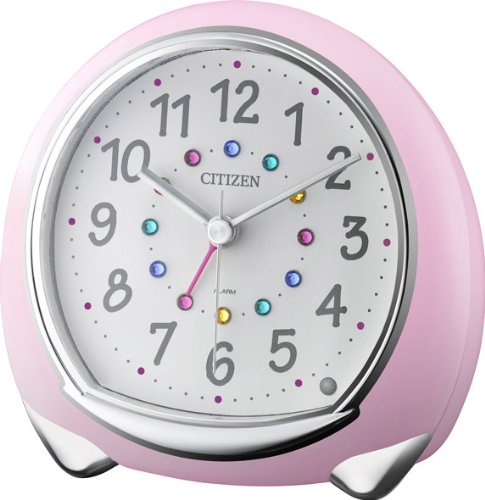 CITIZEN and cute alarm clock アピスコ pink color 8RE653-013