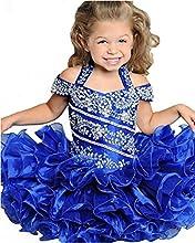 Xiannv Baby Girls39 Halter Toddler Beads Mini Cupcake Pageant Dress