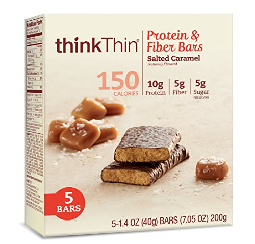 thinkThin Nutrition Bar, Salted Caramel, 5 Count (Pack of 6) (Think Thin Bars Caramel compare prices)