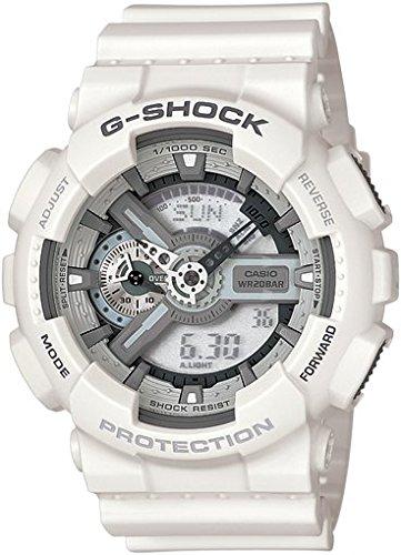 CASIO-G-SHOCK-Orologio-da-Polso-Quadrante-Analogico-Digitale-da-Uomo-Resina-Colore-Bianco