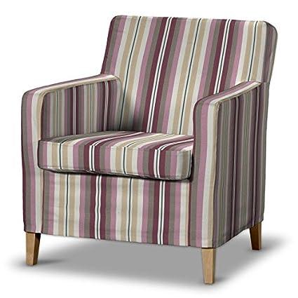 FRANC-TEXTIL 621-141-14 Karlstad funda de sillón, sillón funda, Karlstad sillón, Mirella, rosa/beige