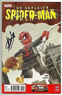 Stan Lee Signed Superior Spider Man #19 Lego Variant Comic W/ Stan Lee