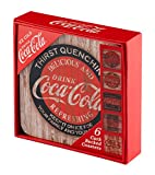 Coca Cola Cork Backed Drinks Coasters, Red