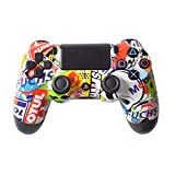 Controller Front Shell for PS4 Controller - Case for the PS4 Controller Dualshock 4 Front Shell Replacement - Custom Cool PS4 Controller Shell Case Cover PS4 Controller Shells - Bomb Skull (Color: Bomb Skull)