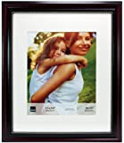 Kiera Grace Lucy Picture Frame, 11 by 14-Inch Matted for 8 by 10-Inch, Dark Brown with Gold Beading