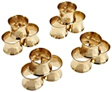 buy Dii Napkin Rings For Dinners, Parties, Everyday, For Dinners, Parties, Everyday, Set Of 12, Hammered Gold