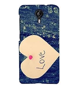 Chiraiyaa Designer Printed Premium Back Cover Case for Micromax Canvas Nitro 4G E455 (boy girl friend valentine miss kiss heart paper) (Multicolor)