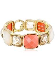 Anne Klein Santa FE Recolors Gold-Tone Coral Stretch Bracelet