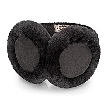UGG Australia Women's Black Sheepskin Earmuffs M US