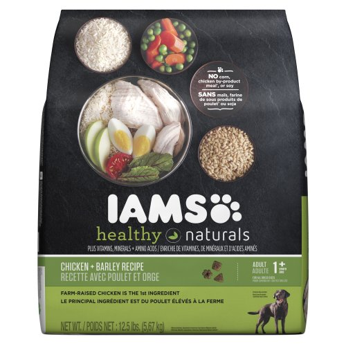 Iams Healthy Naturals Adult Chicken Plus Barley Recipe Premium Dog Dry Food, 12.5-Pound