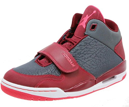 Jordan Flightclub 90's Men's High Top Shoes, Dark Grey/Fusion Red/Team Red, 10 M US