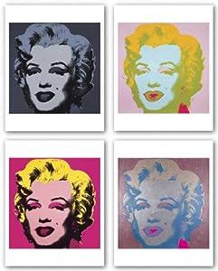 "Marilyn Monroe (Marilyn), 1967 Set by Andy Warhol 10""x10"" Art Print Poster"