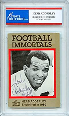 Herb Adderley Autographed Green Bay Packers Encapsulated Trading Card - Certified Authentic