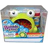 Battery Operated Green Frog Bubble Blowing Machine
