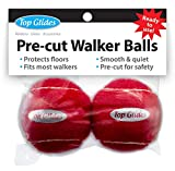 Top Glides Precut Walker Tennis Ball Glides - Red - 1 Pair