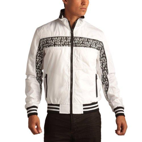 Ed Hardy Mens Windbreaker Jacket - White - Large