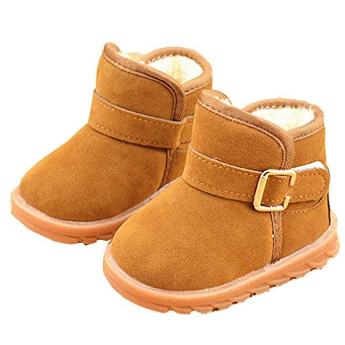 Iuhan Fashion New Winter Baby Child Style Cotton Boot Warm Snow Boots (Age:1-2Years, Khaki 1)