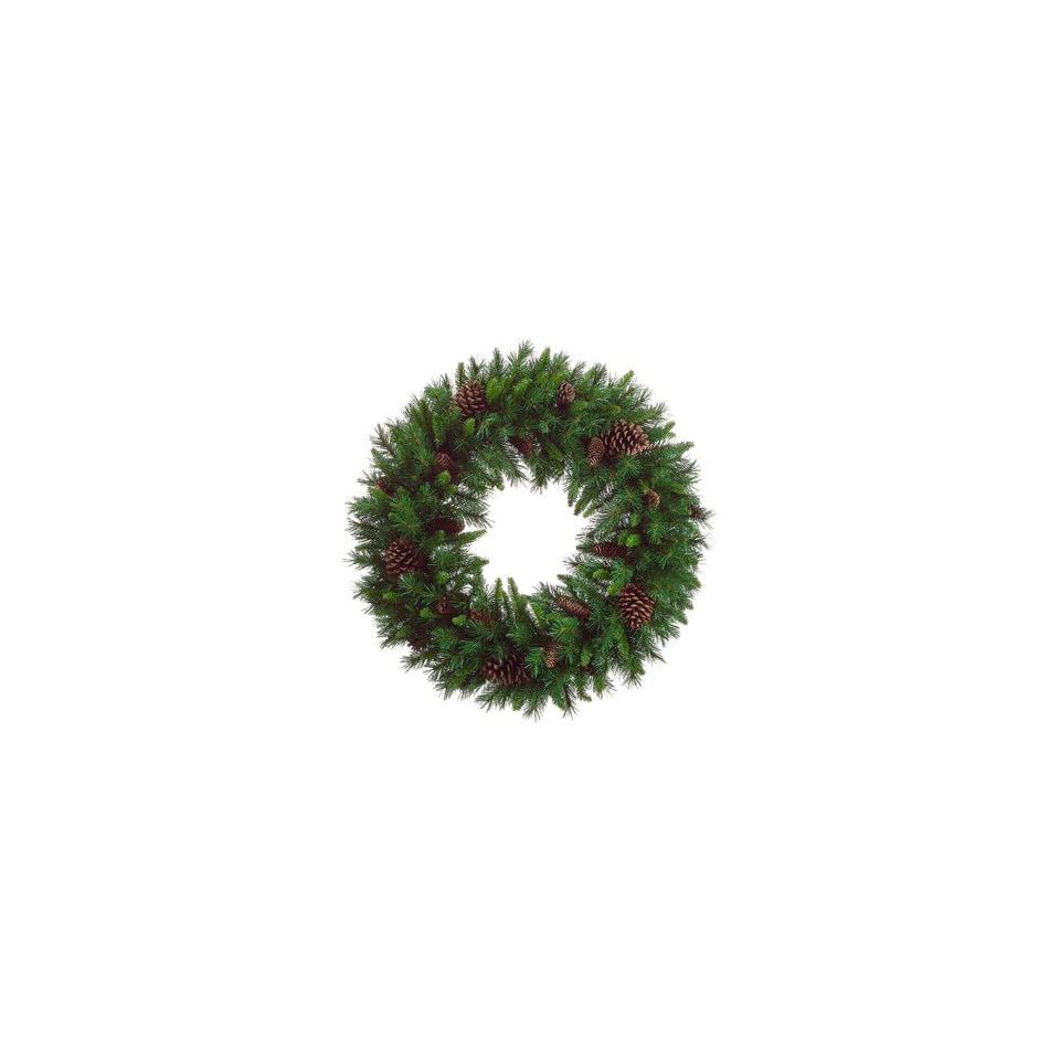 36 American Pine Artificial Christmas Wreath with Pine Cones   Unlit