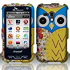 For Samsung Galaxy Rush M830 (Boost) Rubberized Design Cover - Owl 2