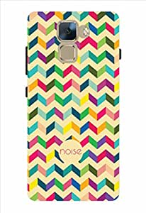 Noise Multicolor Zigzag Printed Cover for Huawei Honor 7