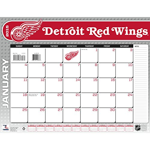 Turner Perfect Timing 2015 Detroit Red Wings Desk Calendar, 22 X 17 Inches (8061468)