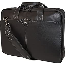 Mobile Edge Mebcl1 16 Deluxe Leather Notebook Briefcase