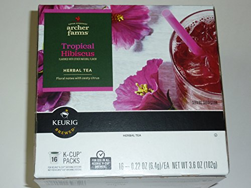 Keurig Brewed K-Cup Herbal Tea Tropical Hibiscus 16 Count