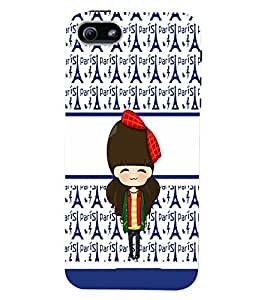 PrintVisa Cute Cartoon Paris Girl 3D Hard Polycarbonate Designer Back Case Cover for Apple iPhone 5C