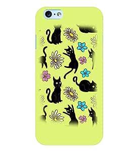 PrintVisa Cute Cartoon Cats 3D Hard Polycarbonate Designer Back Case Cover for Apple iPhone 6 Plus