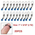 Blue Fishing Line To Hook Swivels Shank Clip Connector 20pcs from uxcell