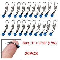 Blue Fishing Line to Hook Swivels Shank Clip Connector 20pcs by uxcell