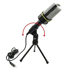 Condenser Microphone, Professional Studio Broadcasting Recording Microphone Set with Stand, Voice Recorder, Noise Cancellation