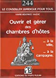 Ouvrir et grer des chambres d'htes