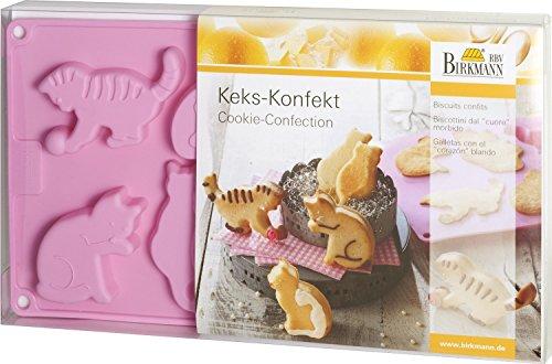 """Moule à cake 3D/moule biscuit schoko- et confiserie """"chat"""" (8-fach/7, 5-8,5 cm-lot de 2-avec tEIGKARTE et recettes (en langue allemande)"""