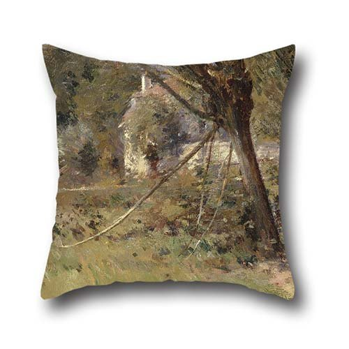 18 X 18 Inch / 45 By 45 Cm Oil Painting Theodore Robinson - Willows Pillowcover ,both Sides Ornament And Gift To Home,kids Girls,teens,father,living Room,wife