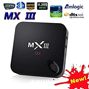 MX3 (MXIII) Quad Core Android 4.4 TV BOX 8G Rom, full Loaded XBMC, 4K Smart TV BOX, 3D-HD Blu-ray Streaming Media Player, Netflix Youtube Skype and many other TV programs were included. - 2 PCS