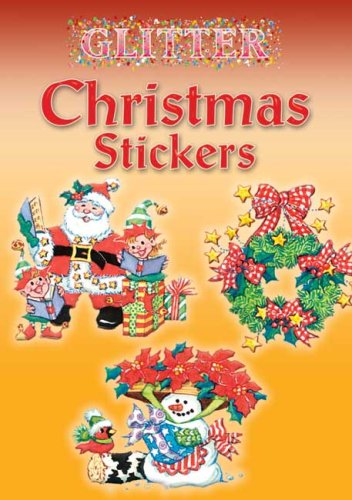 Glitter Christmas Stickers (Dover Little Activity Books Stickers)