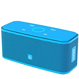 DOSS SoundBox Bluetooth 4.0 Portable Wireless speaker,Superior Sound quality with a powerful Subwoofer,sensitive touch control,Sleek and Modern Design,Build in Microphone[Color:Blue]